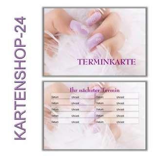 50 Terminkarten Nagelstudio Nail Design KARTENSHOP 24