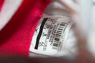 Air Jordan Retro V 5 Girls White Scarlet Fire Red Size 7Y / Women 8.5