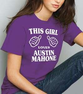 This Girl Loves Austin Mahone T shirt   Mahomie Tee Shirt Tshirt (2147