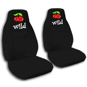 black Wild Cherry car seat covers for a 2008 Chevy Cobalt. Airbag