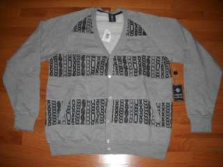 & Castles Chain Print Cardigan Sweater Heather Gray 3XL