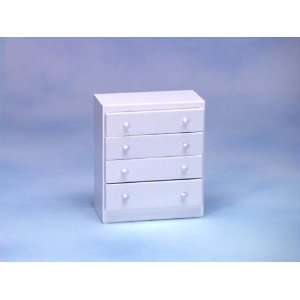 Dollhouse Miniature White Chest of Drawers