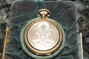 WOMENS 14KT SOLID GOLD ELGIN POCKET WATCH WITH ORIGINAL BOX!