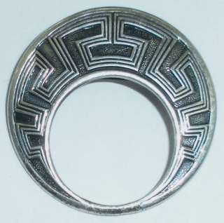 ART DECO NATIVE AMERICAN INDIAN STERLING PIN FRED HARVEY ERA |