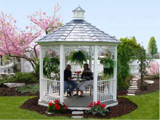 BUILT GAZEBO, UNIQUE METAL RAILINGS AND ACCENTS, CUPOLA ON ROOF