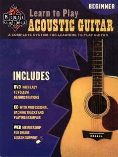HOUSE OF BLUES LEARN TO PLAY ACOUSTIC GUITAR w DVD & CD