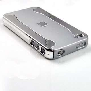 Metallic 2 Piece Chrome Hard Case Cover For iPhone 4 4G 4GS