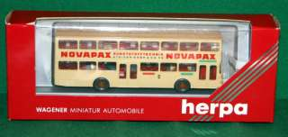 Herpa 187 Scale Double Decker Passenger Bus NIB
