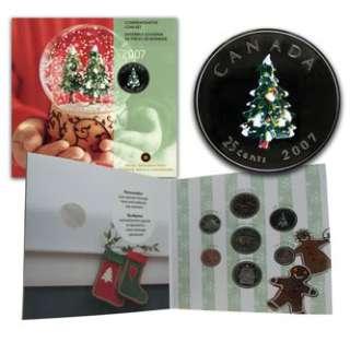 07 Christmas Holiday Coin Gift Set Royal Canadian Mint