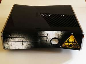 Xbox 360 slim Faceplate STICKER mod bio hazard