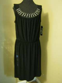 Another Thyme stud embellished dress 16W career professional black
