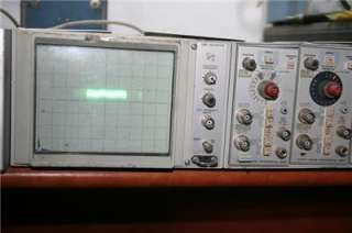 TEKTRONIX OSCILLOSCOPE 5110 SCOPE W/ 5A21N / 5B10N PLUG INS