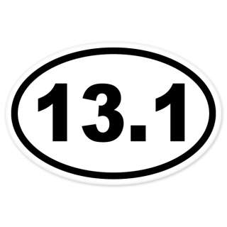 13.1 Mile Half Marathon car bumper sticker decal 5 x 3
