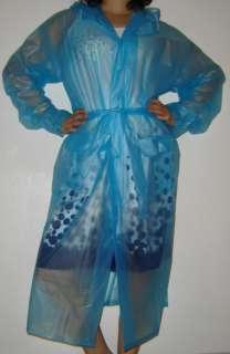 New Transparent Plastic PVC Vinyl Raincoat MAC