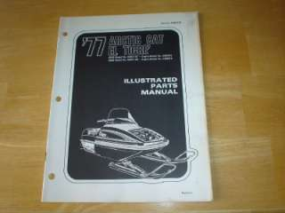 1977 Arctic Cat El Tigre Snowmobile Parts Manual Vintage