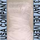 Timeless Corset Strapless Beaded Wedding Dress Gown Size 18 Ivory F973
