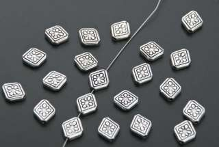 60 Tibetan Silver Flower Diamond Spacer Beads B208