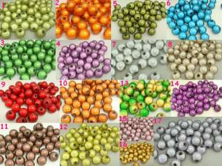 60pcs various color Round Acrylic Miracle Magic Charm Loose Craft Bead