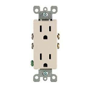 Leviton Decora 15 Amp Light Almond Duplex Outlet R56 05325 0TS at The