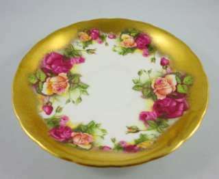 Beautiful Bright Gold & Roses Royal Chelsea Golden Rose Tea Cup and