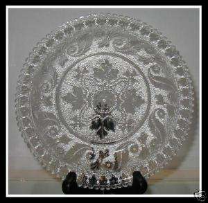 Rare Antique EAPG Glass Lacey Bowl by Boston & Sandwich