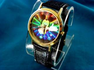 VINTAGE LORUS 3 D HOLOGRAM MICKEY MOUSE WATCH + DISPLAY