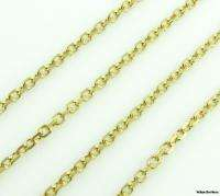 20 Vintage Cable Link Chain Necklace Womens   14k Solid Gold 5.5g