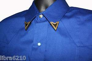 GOLD PLATED SHIRT COLLAR TIPS EASY SCREW FASTEN ON WESTERN COWBOY NEW