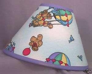 New Lamp Shade Teddy Bears Hot Air Balloons Nursery