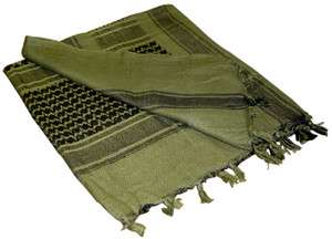 Olive Drab Military Army Shemaugh Arab Keffiyeh Desert Scarf Deluxe