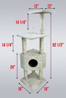 Cat Tower Tree Condo Scratcher Furniture Kitten House Beige Post Bed