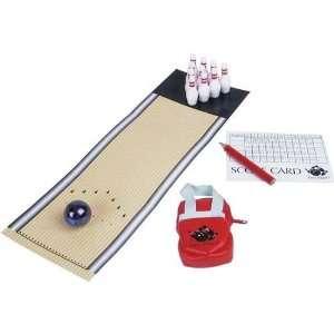Miniatur Bowling Set mit 10 Pins, Bowlingkugel, Bowling Bag komplett