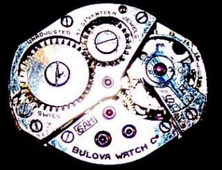 Vintage Bulova 17 Jewels Gold Plated Womens Watch Repair/Parts 1/20