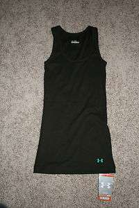 NWT UNDER ARMOUR RIB ALL SEASON FITTED TANK TOP SLEEVELESS SHIRT BROWN