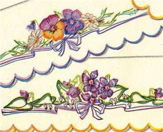 7140 Pansies & Violets for Shabby style Pillow Cases