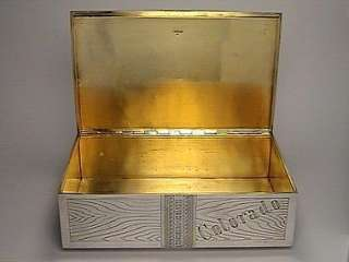 VERY LARGE Antique Imperial Russian Silver Cigar Box 1879