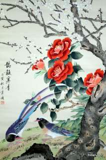 Offering for sale an antique hand painted Chinese scroll. The scroll