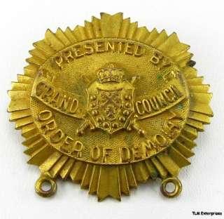 DEMOLAY   Vintage Masonic MEDAL Grand Council MEDALLION