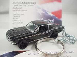 1967 FORD MUSTANG Fastback Black Key Ring Keychain