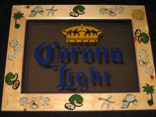 Corona Light Beach Decoration Frame Cerveza beer sign pub bar game
