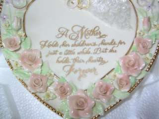 PRECIOUS HEARTS PLATE 1ST ISSUE WHAT MOTHER HOLDS DEAR