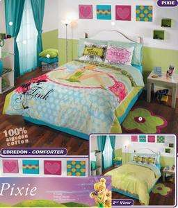 New Girls Disney Tinkerbell Comforter Sheets Bedding Set Twin 6pc