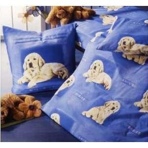 bettw sche hund golden retriever hunde blau biber k che. Black Bedroom Furniture Sets. Home Design Ideas