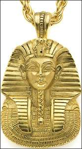 Egyptian Jewelry King Tut Mask Pendant with Chain