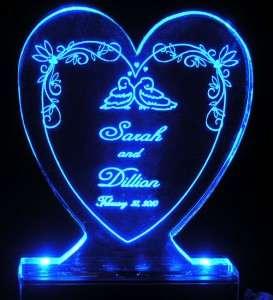 Lovebirds in Heart Wedding Cake Topper  Personalized Free