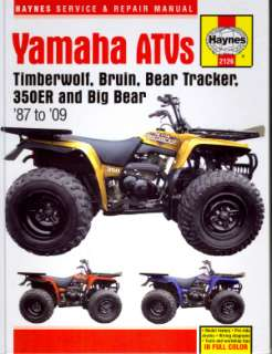 Yamaha Big BearTracker Bruin Timberwolf Service Manual