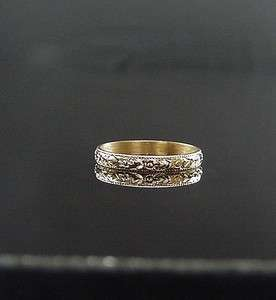 ANTIQUE VICTORIAN YELLOW GOLD ORANGE BLOSSOM BABY ETERNITY RING