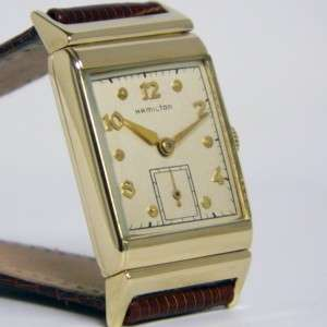 Vintage 14k Yellow Gold Hamilton Wesley B Manual Wind 17 Jewel Watch