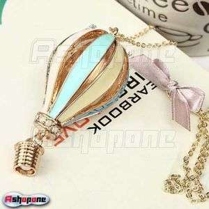Fashion Fly Dearmer Colorful Hot Air Balloon Pendant Necklace