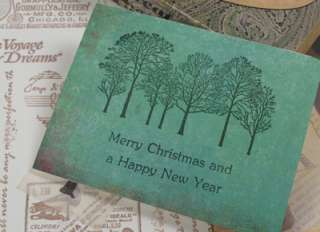 Decorative Stamps Rubber Stamp_Winter Forest